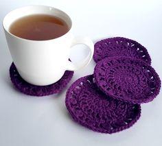 Free crochet pattern - Chrissy's Coasters by Shelley Husband