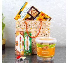 Raksha Bandhan Greeting card with Cookies combo