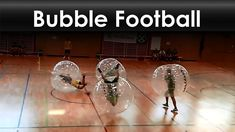 Football (soccer) with inflatable body bubbles.