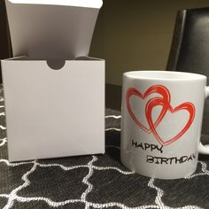 Personalized coffee mug Perfect for birthday gift or customize it for christmas Write your own text...