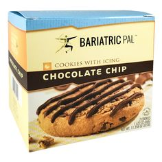 The perfect chocolate chip cookie is chewy, sweet, and satisfying. BariatricPal Chocolate Chip Cookies with Drizzle fit the bill. They have wholesome ingredient