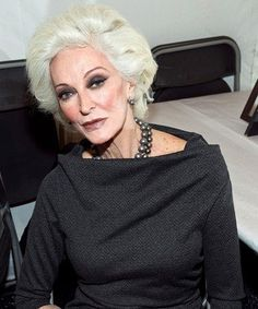 Carmen Dell'Orefice Beauty Secrets | Carmen Dell'Orefice : 19 Women Who Make Grey Hair Look Gorgeous ...