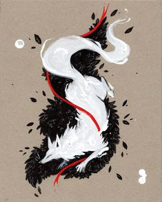White Fox RIBBONS by RubisFirenos on DeviantArt