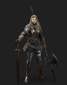 Large collection of the finest fantasy art Female Character Design, Character Design References, Character Concept, Character Art, Concept Art, Fantasy Female Warrior, Female Knight, Fantasy Women, Fantasy Art