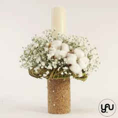 Diy Flowers, Flower Diy, Gypsophila, Christening, Concept, Candles, Design, Baby, Home Decor