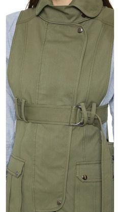 Marissa Webb Gavin Canvas Vest