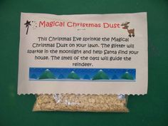 Buddy the elf will leave magic reindeer food for the girls to use on Christmas Eve