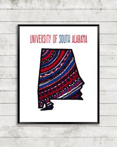 University of south alabama campus print university of south university of south alabama art sciox Gallery