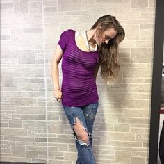 🍁SALE🍁Ann Taylor Purple Crochet Knit Top Worn 1X & received compliments, absolutely beautiful top!! No Imperfections! 100% Rayon! Shiny Purple crochet material. 💟ANIMALS LIVE HERE💟 •{May not get every single hair off item}• 🚭Smoke Free Home Ann Taylor Tops Tees - Short Sleeve