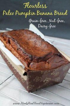 Flourless Paleo Pumpkin Bread Recipe (Grain-free, Nut-free) - Healy Eats Real #paleo #paleobaking