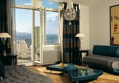 Palace Luzern with views of the lake and Mount Pilatus