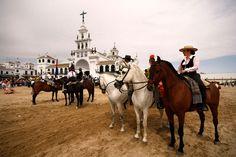 EL ROCIO ANDALUCIA, SPAIN - MAY 30: Participants ready to perform Romeria del Rocio pilgrimage May 30, 2009 in El Rocio. The traditional pilgrimage can be traced back to the 15th century.