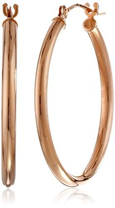 14k Rose Gold Round Hoop Earrings (0.6'' Diameter) Amazon Curated Collection http://www.amazon.com/dp/B00DYQMYRO/ref=cm_sw_r_pi_dp_EJ79ub0P2XK47