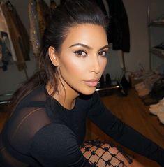 Kim Kardashian simple makeup