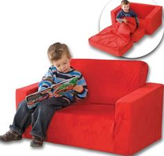 Bedroom, The Small And Red Kids Folding Bed With The Smart Creative Unique And Awesome Design Ideas That Look So Neat Simple And Creative With The Beautiful And Great Color With A Boy Reading A Boook And Have Bedding ~ The Kids Folding Bed With The Practical Design That Make Your Kids Feel Comfortable