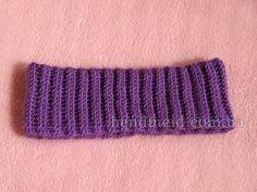 Вязаная крючком повязка на голову для девочки
