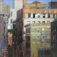 ۩۩ Painting the Town ۩۩  city, town, village & house art - Francis Livingston - City Layers
