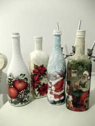 Risultati immagini per how to fabric decoupage wine bottle