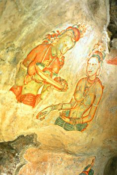 Sigiriya frescoes. Sri Lanka #VisitSriLanka #lka