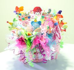 It's a Happy Birthday Bouquet made for a very special little girl.