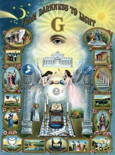 Freemasonry is evil and Christians should never belong to it or any secret organization. Jesus brings you out of darkness into the light and NOT Freemasonry. To say Freemasonry brings you out of the darkness into the light is to deny Jesus! Masonic Art, Masonic Lodge, Masonic Symbols, Masonic Order, Masonic Temple, Rose Croix, Eastern Star, Freemasonry, Knights Templar