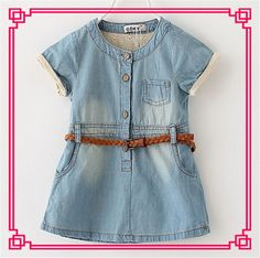 2015 Girl Dress Cinderella Vintage Sleeveless Pocket Party Dresses Baby Dresses with Belt Princess Casual Dresses Online with $11.72/Piece on Smartmart's Store | DHgate.com
