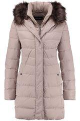 Gerry Weber - doorgestikte, gewatteerde jas met fake fur  #fakefur #imitatiebont #fashion #fall16 #winter17