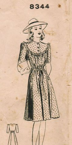 1940s Mail Order 8344 Vintage Sewing Pattern by midvalecottage, $14.00