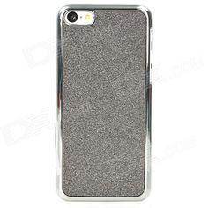 Luminoso Funda protectora ABS para Iphone 5C - Gris Negro + Plata