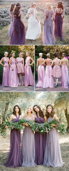 20 Chic and Stylish Convertible (Twist-Wrap) Bridesmaid Dresses - Purple dresses bridesmaid dress, bridesmaid dresses