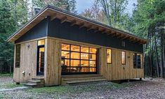"""Cahill Cabin Featured in Katie Hutchison's """"The New Cottage"""" - Cushman Design Group Tiny House Cabin, Tiny House Living, Small House Plans, Container House Design, Small House Design, Small Cabin Designs, Container Cabin, Cargo Container, Container Homes"""