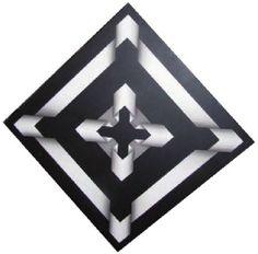 Haman II-Omar Rayo Op Art, Fused Glass Art, Marquetry, Optical Illusions, Geometric Shapes, Zentangle, Abstract Art, Floor, Drawings