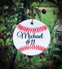 Baseball Ornament Personalized Ornament Personalized Baseball Ornament Christmas Ornament Stocking Stuffer Gifts For Him Baseball