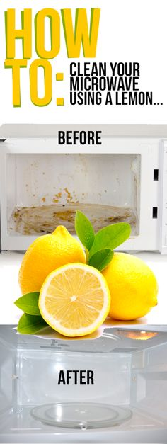 Cleaning Tips for Kitchen: How to Clean a Microwave With Lemon