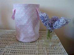 Korb für Spielzeug Medium rosa Tupfen