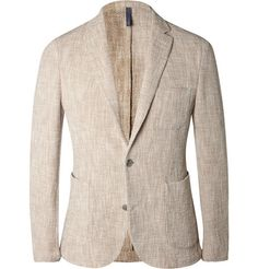 Incotex Sand Slim-Fit Woven Cotton-Blend Blazer | MR PORTER