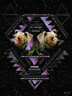 Bears, triangles, space.