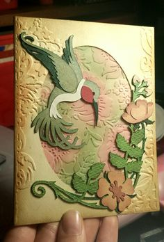 Mother's Day card I made for my grandma with the Art Nouveau cartridge