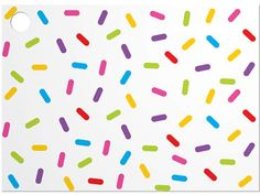 Candy Sprinkles Theme Gift Cards3-3/4x2-3/4' (30 unit, 6 pack per unit.) -- Continue to the product at the image link.