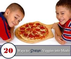 20 Ways to Sneak Vegetables into Kids Food - Less Than Perfect Parents