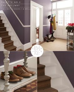 Twilight Cinders: Dulux Key Colour A/W 2011 - Bright Bazaar by Will Taylor Hallway Colours, Wall Colors, Purple Paint Colors, Plum Color, Grey Walls, Purple Walls, Purple Grey, Rustic Stairs, Purple Interior