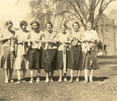 """My homework is keeping me from my knitting."" - Overheard at Smith College. Photo from 1931."