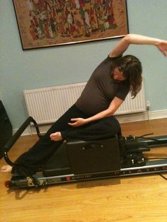 Aoife on the Pilates Reformer at 7 months pregnant!!! Pregnancy is not a reason to stop exercising:-) In fact Pilates can help with an easier birth and recovery:-)