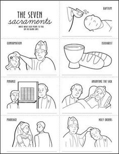 The seven sacraments of the Catholic church are baptism, confirmation, Eucharist, penance, anointing of the sick, marriage and holy orders.