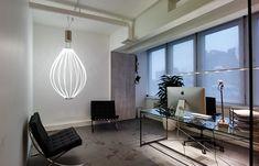The Medusa luminaire by Saas Instruments Design Mikko Paakkanen Unique Lighting, Jellyfish, Medusa, Office Desk, Light Fixtures, Instruments, Lights, Table, Inspiration