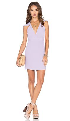x Naven Twins Flutter Sleeve Romance Bodycon Dress