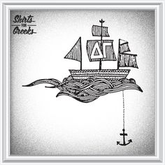 Shirts For Greeks - Delta Gamma Ship and Anchor