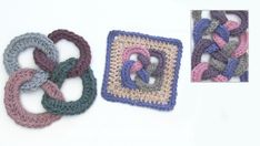 How to crochet several rings together.