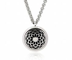 Sunflower Aromatherapy Essential Oil Diffuser Necklace Locket Pendant with 8 Washable Pads + 24 Chain - Hypo-allergenic 316L Surgical Stainless Steel Jewelry Gift Set by FLYMEI -- Awesome products selected by Anna Churchill