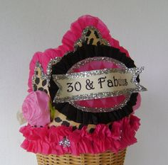 30th Birthday  Crown/Hat 30 and fabulous or customize via Etsy